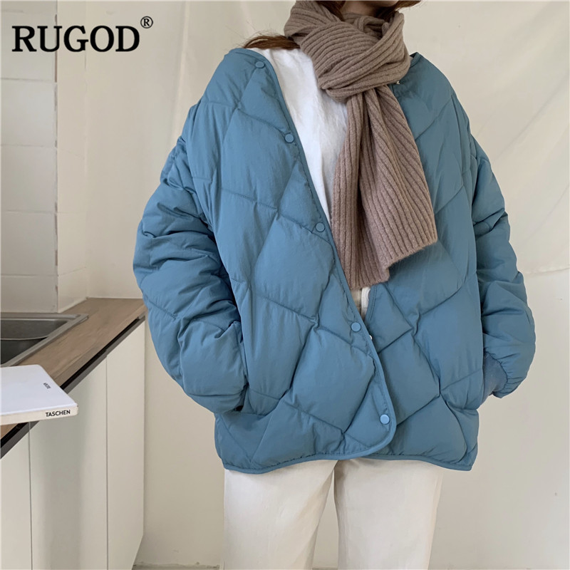 RUGOD 2019 Solid Elegant Women Jacket Coat Thick Warm Winter Women Wear Cotton Women Coat Winter Clothes doudoune femme hiver