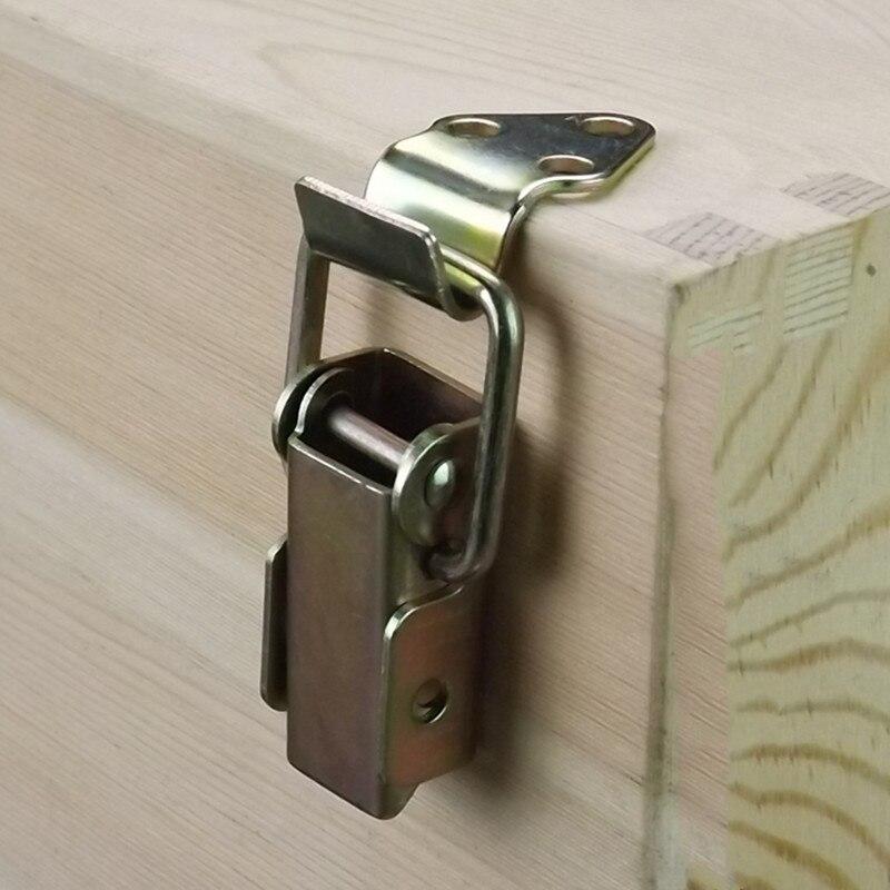 Caixa de madeira travamento trava de metal mala caixa de metal toggle ferrolho captura fecho ferrolho caixa de jóias dobradiças móveis acessórios de ferragem