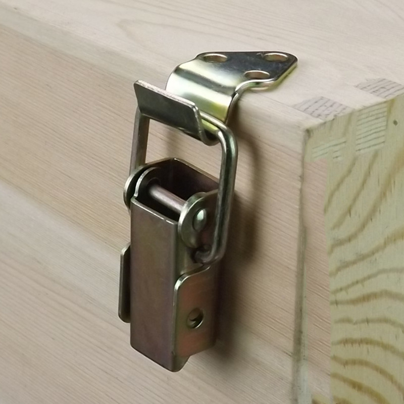 Wooden Box Locking Latch Metal Suitcase Chest Toggle Hasp Catch Clasp Hasp Jewelry Box Hinges Furniture Hardware Accessories
