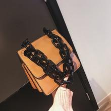 Casual Acrylic Chains Women Handbags PU Leather Lattice Crossbody Bags For Women Small Flap Bolsa Brand Messenger Bags Girls New цена в Москве и Питере