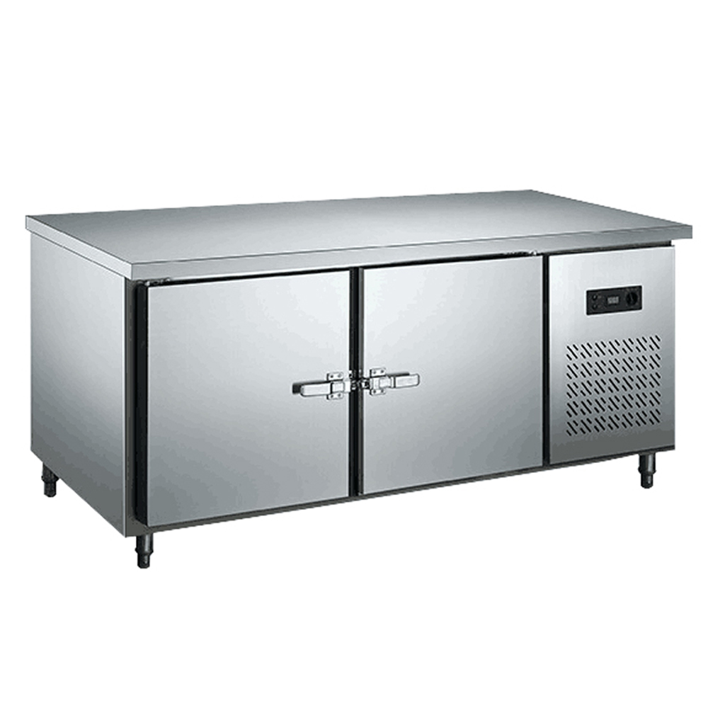 zb 400l2mp stainless steel under counter worktop commercial zb 400l2mp stainless steel under counter worktop commercial cabinet refrigerator freezer 400l 1 8m length kitchen counter fridge in freezers from home