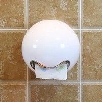 צורת כדור חמוד קריקטורה ביטוי קופסא נייר פלסטיק עמיד למים רחצה בית תיבת אחסון יכול ניקוב או להדביק שרותים ניירות