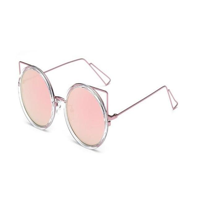 3b6e624b19 Marco de Metal Anti-Glare lentes gafas de sol lindo oreja de gato gafas de