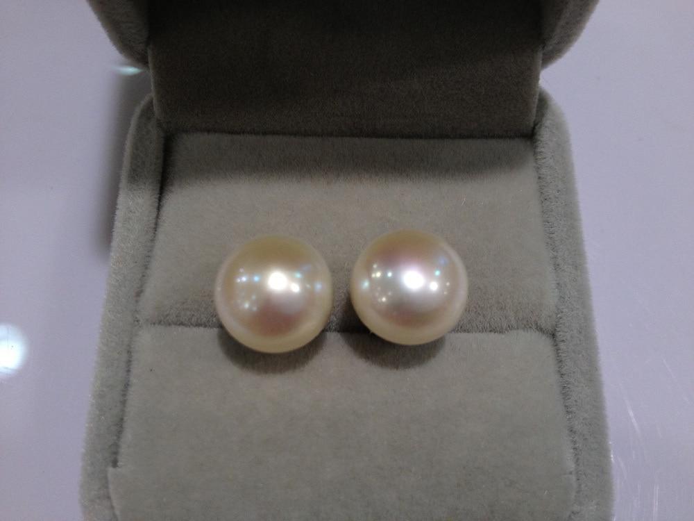 Δωρεάν αποστολή 11-12MM Φυσικό μαργαριτάρι καρφιά σκουλαρίκι 925 ασημένιο πραγματικό μαργαριτάρι σκουλαρίκι για γυναικεία κοσμήματα μόδας