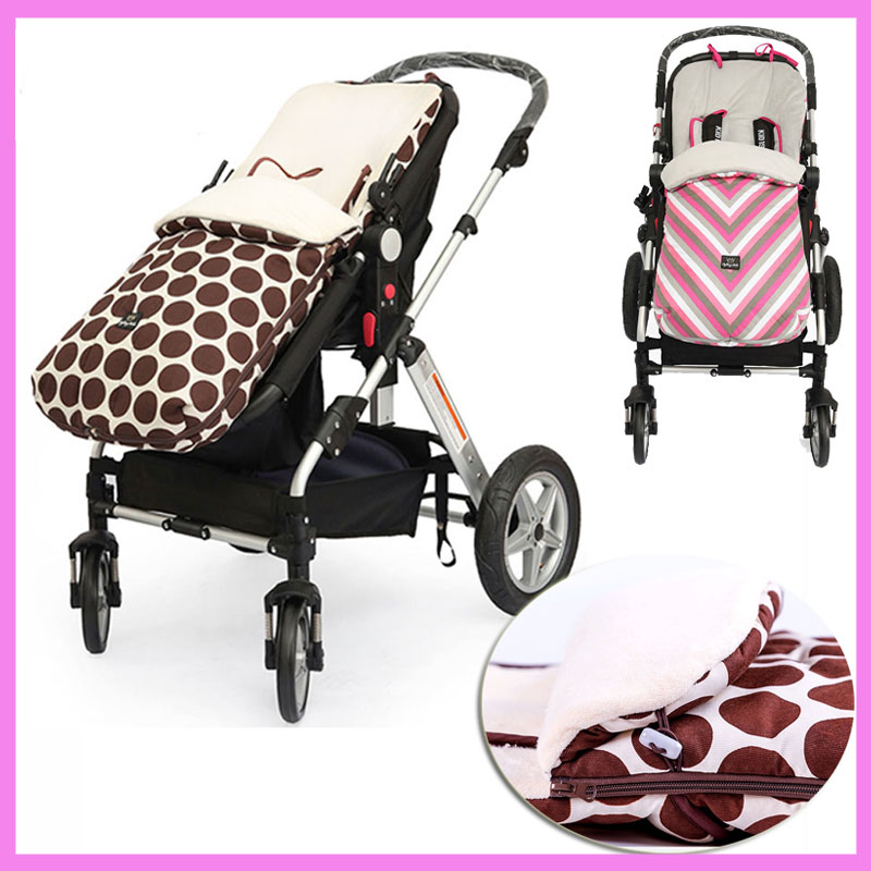 Newborn Double Baby Sleeping Bag for Stroller Baby Carrier Stroller Accessories Outdoor Warm