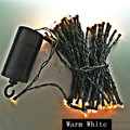 10M 100Leds Waterproof Black Wire Outdoor LED String Light Holiday Wedding Party Decoration Garland Lights 4*AA Battery Operated