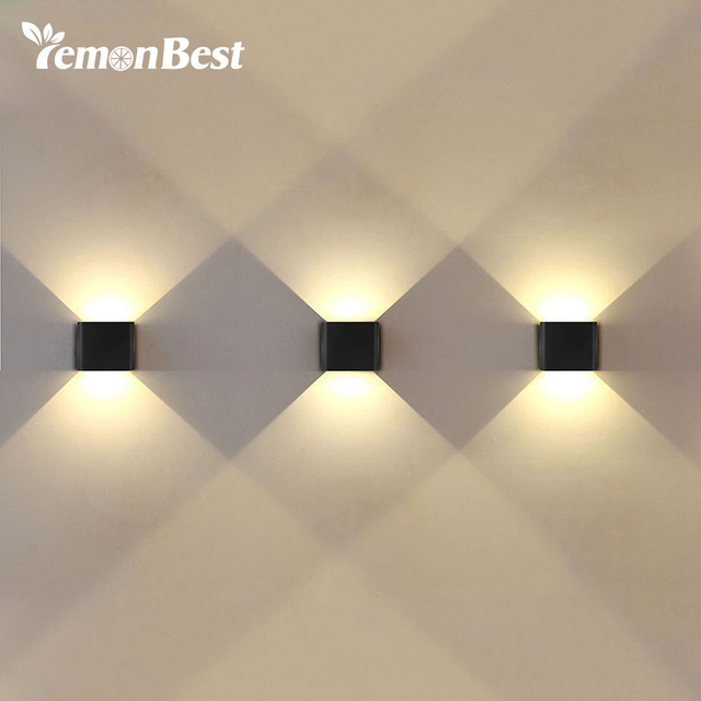 US $32.19 |6W Led Wall Light UP & Down AC 220V 110V LED Stair Bedside Lamp  Bedroom reading wall lamp Porch Stair Decoration light-in LED Indoor Wall  ...
