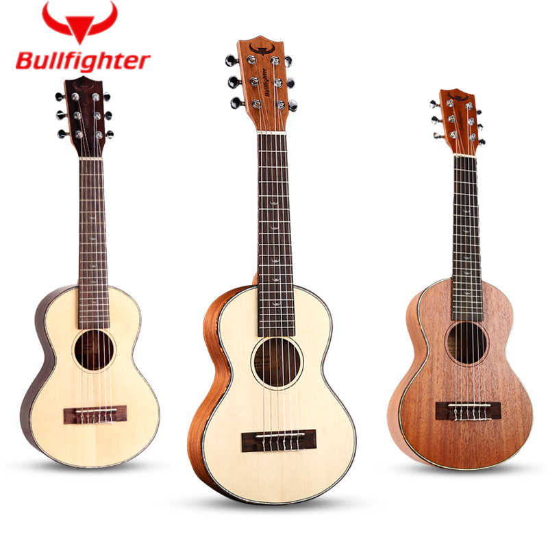 Bullfighter 28inch Performance Ukulele Acoustic Guitar Full Closed Knob 6 Strings ukulele Folk Wood GuitarBullfighter 28inch Performance Ukulele Acoustic Guitar Full Closed Knob 6 Strings ukulele Folk Wood Guitar