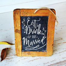 Eat, Drink and be Married Wedding Sign Decal Vinyl Art Stickers for Wedding Celebrations Stickers for Weddings, Chalkboard ZW400 eat drink and be merry in maryland
