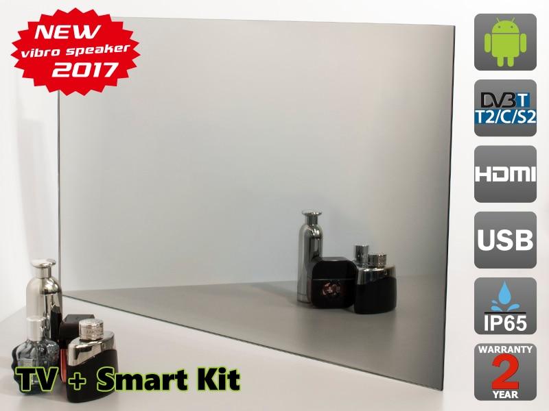 27 waterproof Mirror TV for Bathroom + Smart Kit, Digital tuner DVB-T/T2 (Freeview), AVS270FS. Free shipping. 26 with smart kits bathroom tv waterproof tv avis avs260f dvb t dvb t2 dvb s2 dvb c free shipping