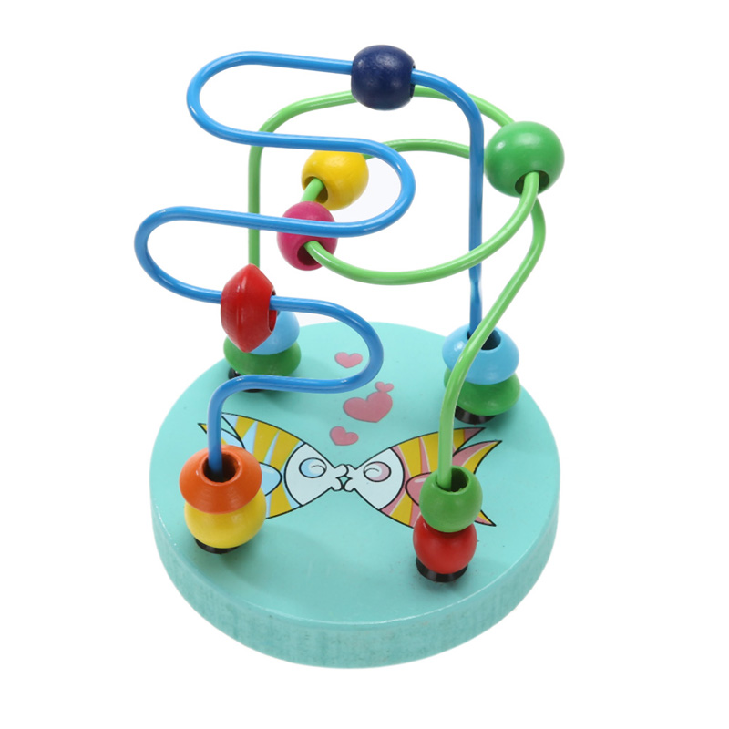 Early Childhood Learning Educational Toys Children Kids Baby Colorful Wooden Toys Mini Around Beads Toy Kids Baby Toys Random