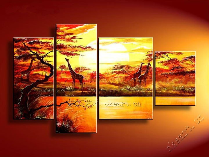 harmonious homeland deer dance four spell fun abstract minimalist living room restaurant bedroom decorative mural painting in painting calligraphy from - Fun Pictures To Paint
