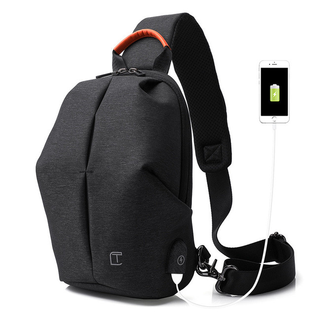 USB chest pack antitheft men messenger bags of the outdoor sports single  shoulder bag leisure satchel small bagkpack personality 1d4973ed279f6