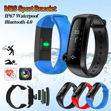M2S Смарт-часы Presión arterial сердечного ритма Фитнес трекер умный Браслет smartwatch для Android IOS Смарт Браслет