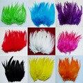 Цветные красивые петушиные перышки, аксессуары для поделок, перо 10-15 см, 4-6 дюймов, продажа корней 50