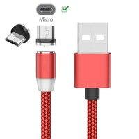 Para Samsung A10E A2 Core J4 J7 J8 A3 A5 2016 A7 2018 Huawei Y5 Y6 Y7 2019 magnética Micro USB de Cable de Nylon trenzado de imán cargador