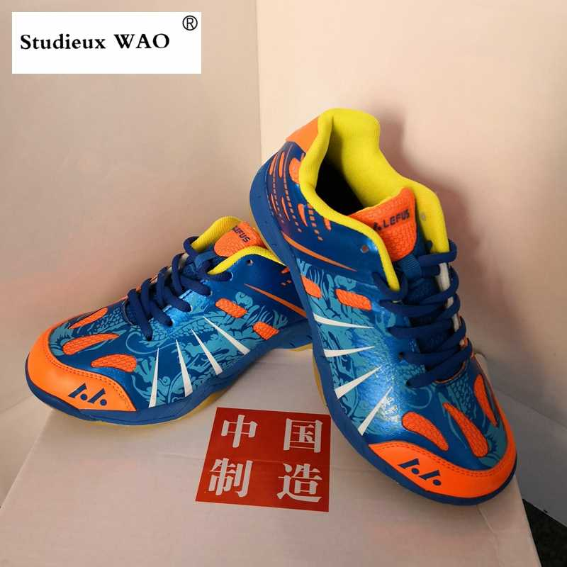 Original Quality Chinese Brand Badminton Shoes Traning Mens Sneakers Professional Match Sports Shoes Kids Women Breathable Blue