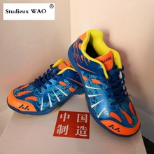 Original Quality Chinese Brand Badminton Shoes Traning Mens Sneakers Professional Match Sports Shoes Kids Women Breathable Blue li ning women s professional cushion badminton training shoes breathable sneakers lining double jacquard sports shoes aytm078