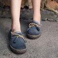 Оригинальный дизайн осень новый кисточкой нубук кожа женская обувь коровьей плоским досуг обувь круглые обувь пальца ноги