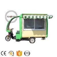 CE 承認オートバイ電気食品カート携帯食品トレーラー高速食品キオスク食品トラック販売のため