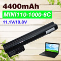 4400 mah batería para compaq mini 102 mini cq10 mini110-1000 cq10-100 para hp mini 110 mini110 110c 537626-001 hstnn-cb0c