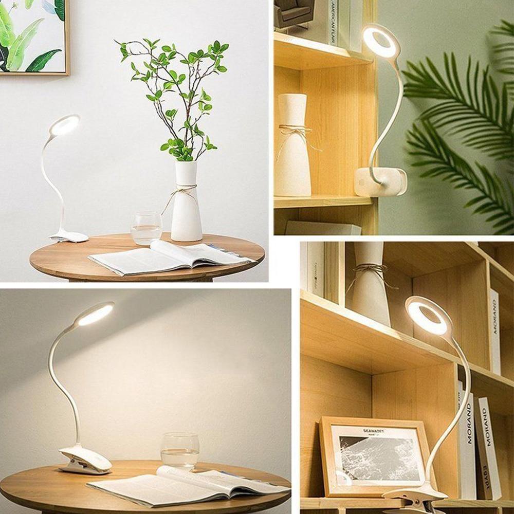 Настольная лампа портативный светодиодный книжный светильник с зажимом для домашнего декора, для ухода за глазами, для фонаря, для чтения фортепиано, фонарик, книга, лампа для учебы