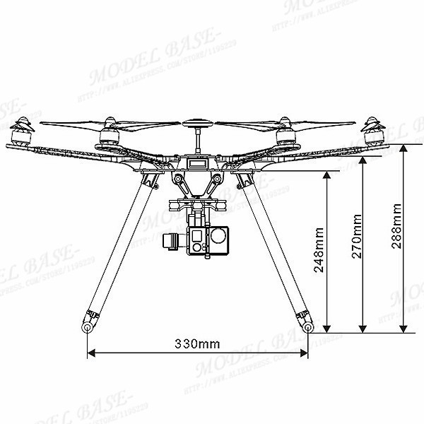 Newest FPV S550 6 Axis Multi Rotor Air Hexacopter PCB Frame With