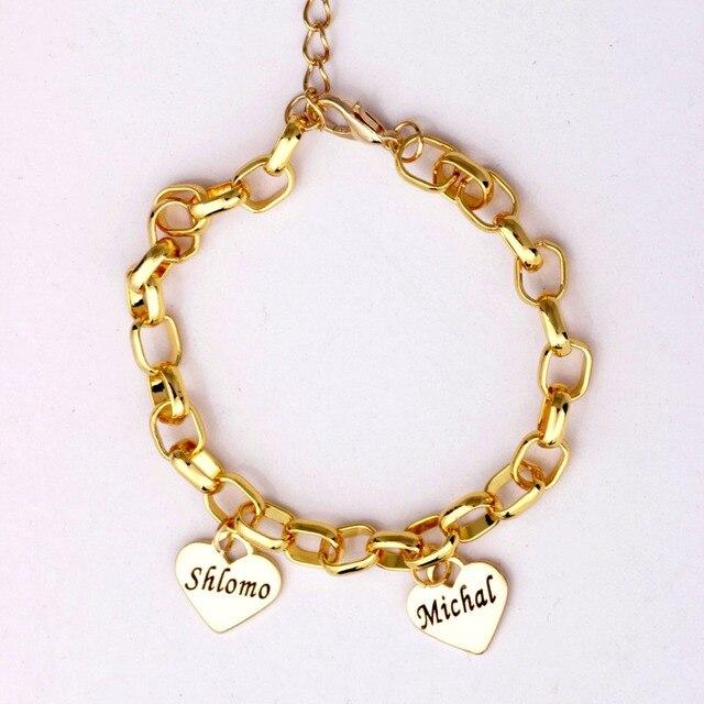 5cc08bbdeed8 Madre personalizada pulsera del encanto del corazón pulsera de hasta 19  nombres mejor regalo para mamá
