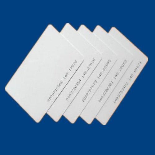 200pcs/lot TK4100/EM4100 blank card Thin pvc RFID 125KHz 18000-2 Smart Card Chips 200pcs lot customable 8 4mm mag stripe 2 track pvc smart card