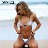 OMKAGI Bikini Swimwear Swimsuit Women 2017 Brazilian Bikini Set Bathing Suit Biquini Beachwear Maillot De Bain