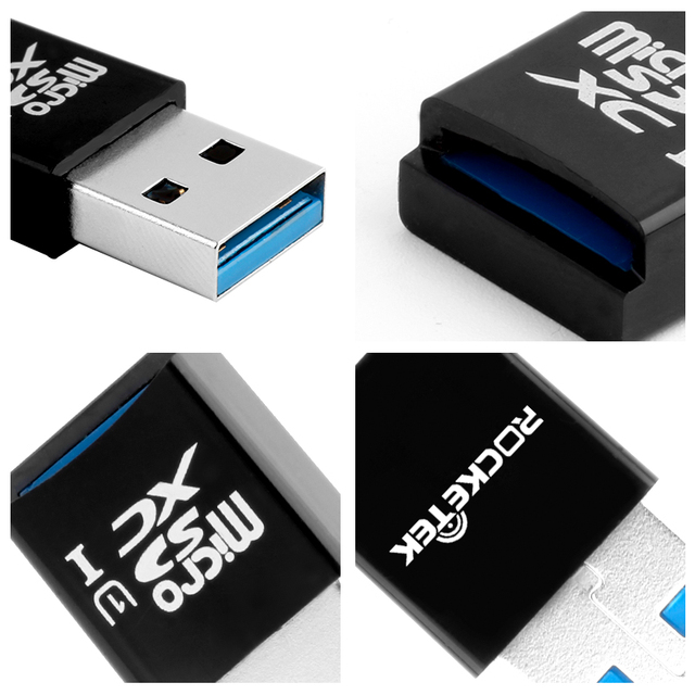 Rocketek usb 3.0 multi memory card reader adapter mini cardreader for micro SD/TF microsd readers computer laptop 5