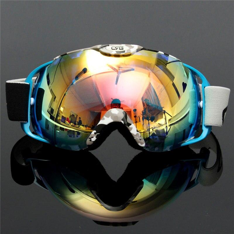 הגעה חדשה עדשה כפולה משקפי סקי משקפיים סקי סנובורד UV400 נגד ערפל למבוגרים גברים נשים השלג Eyewear