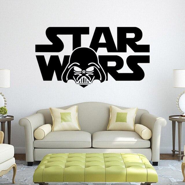 Star Wars Logo Stickers Muraux Stickers Muraux Avec Autocollant Garçons  Chambre Décoration Murale Home Decor