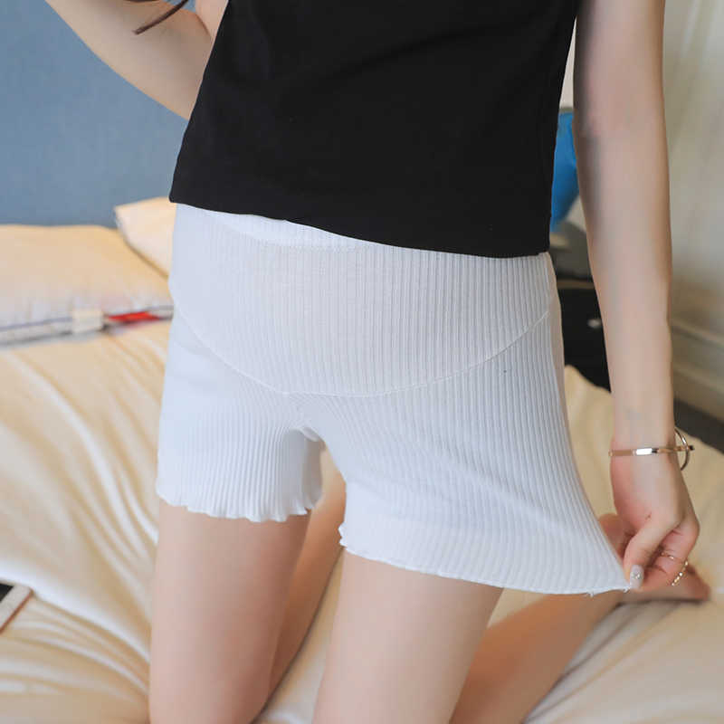 2020 summer pregnant women belly trousers maternity leggings cotton sliver belly shorts solid color pleated safety empire shorts