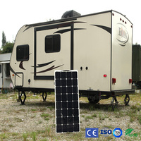 Factory Cheap Boguang 1pcsx100W 12V Flexible Solar Panel Cell Module System RV Marine Charger Battery Light