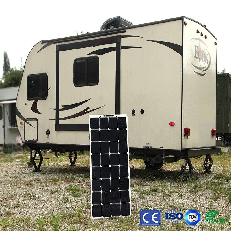 Solar Panel 100w 18v 12v Bendable Flexible Solar Charger