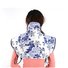 Electric heating shoulder neck Pad Moxa liner Cervical vertebra pain hot compress therapy home moxibustion Shoulderpad heating therapy u shape pillow neck cervical vertebra massager moxa moxibustion far infrared treatment travel nap massage relax