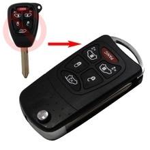 Автозапуск Флип Складной 6 Кнопки Флип складные Дистанционного Ключа дело Shell для Chrysler Town и Country Dodge Grand Caravan Jeep