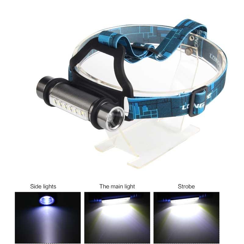 K60 Aluminum Rechargeable Headlights LED Work Lights Outdoor Riding Emergency Lights Lanterns Torch Flashlight 18650 AAA Battery
