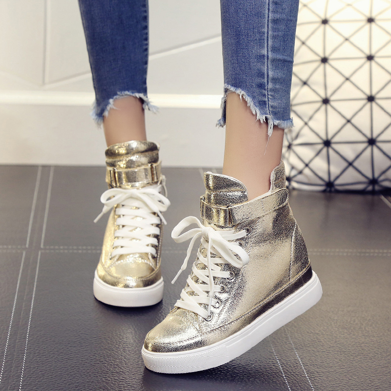 SWYIVY High Top Woman Casual Shoes Sneakers Platform 2019 Spring Autumn New Hot Sale Female Leisure Canvas Shoes Sneakers Wedge