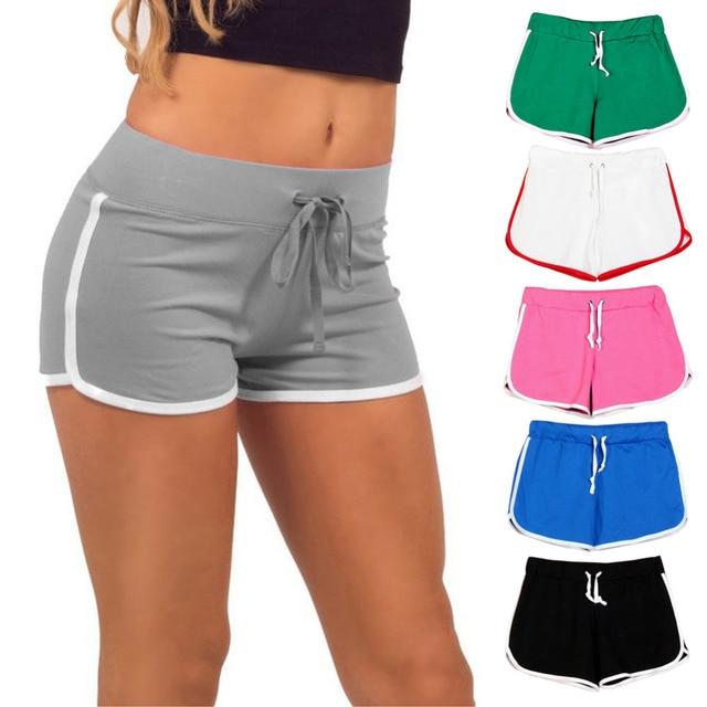 29952c0899 Verano de algodón de las mujeres pantalones de cintura elástica pantalones  cortos Mujer Pantalon Corto Mujer