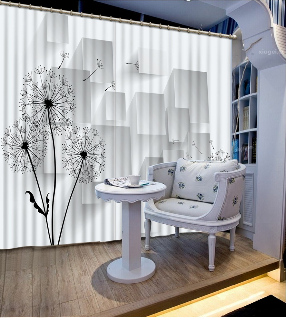 3D Curtain Home Bedroom Decoration Fashion Customized