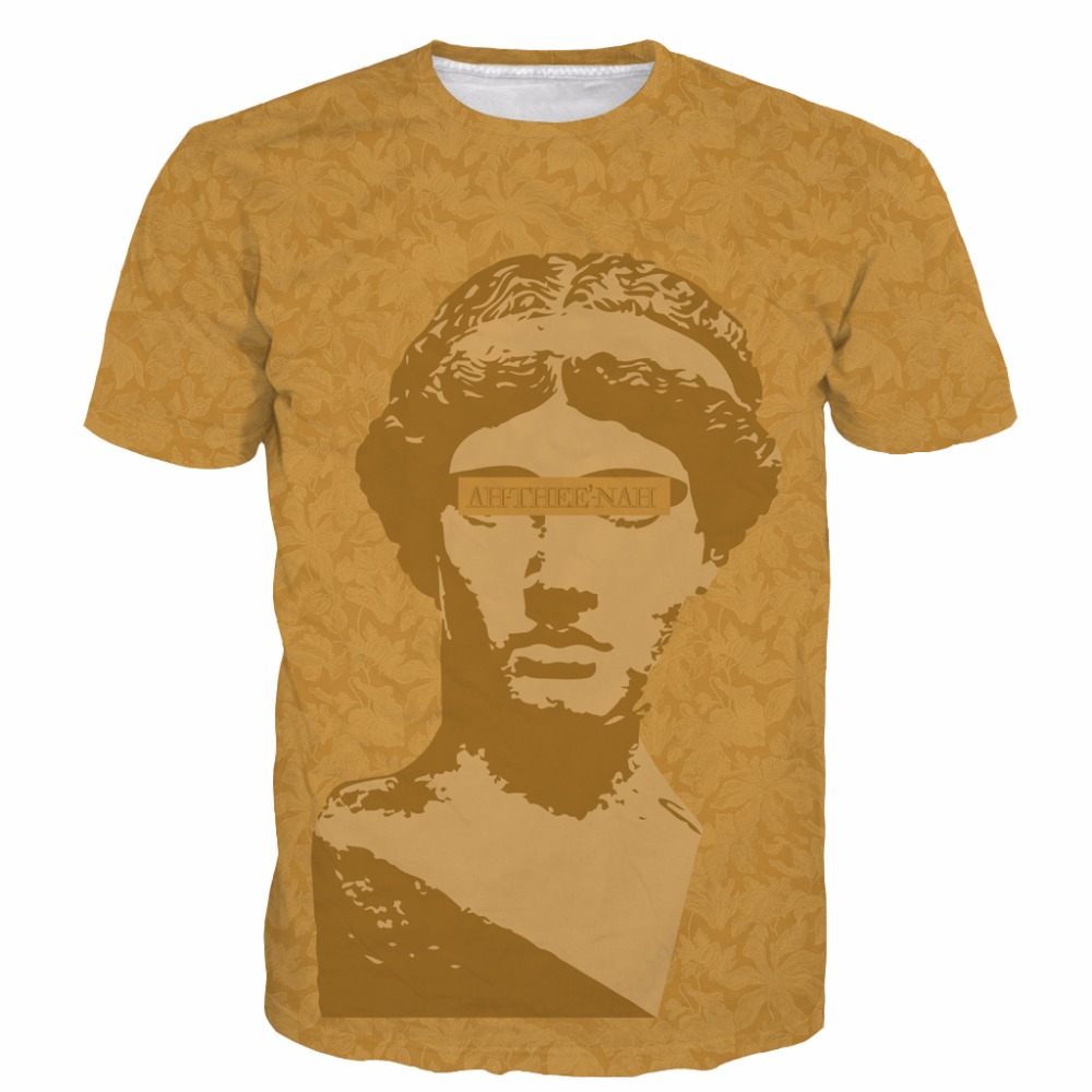 Vintage Religion Athena The God Tees T-Shirts Men Women Hipster 3D t shirt Luxury Flower Pattern Prints tshirts Swag t-shirt tee