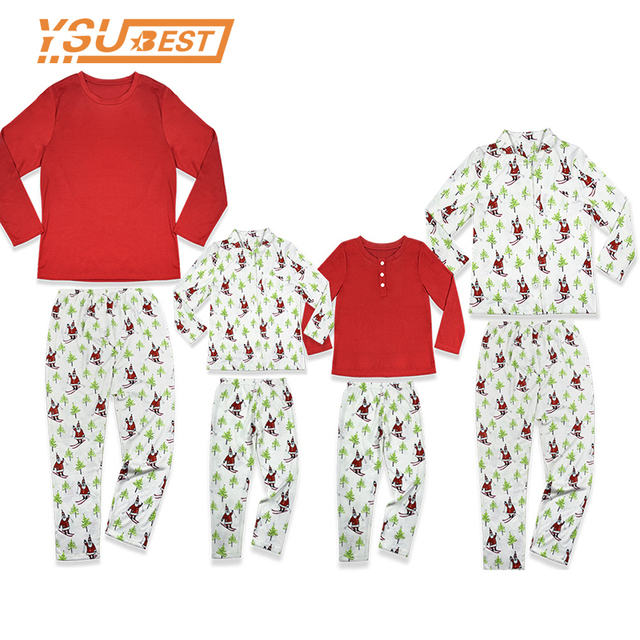 9aeb03331 2018 Family Matching Christmas Pajamas Sets Kids Adult Xmas ...