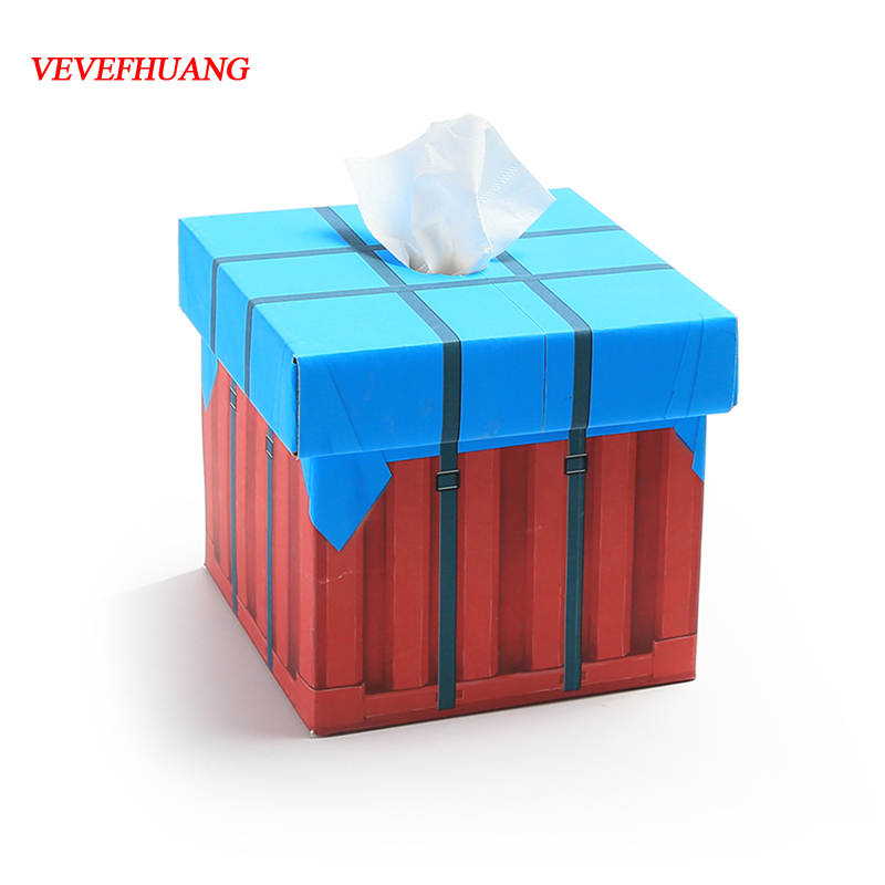 VEVEFHAUNG Playerunknown's Battlegrounds PUBG Tissue box Air-drop Supply Crate Box Fashion Office Storeage Gift Present Box