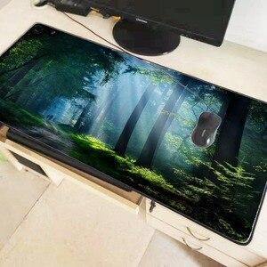 Image 2 - MairuigeธรรมชาติBlue Forestหิมะขนาดใหญ่เมาส์PadเกมMousepad Anti ลื่นยางธรรมชาติเกมแผ่นรองเม้าส์ล็อคedge