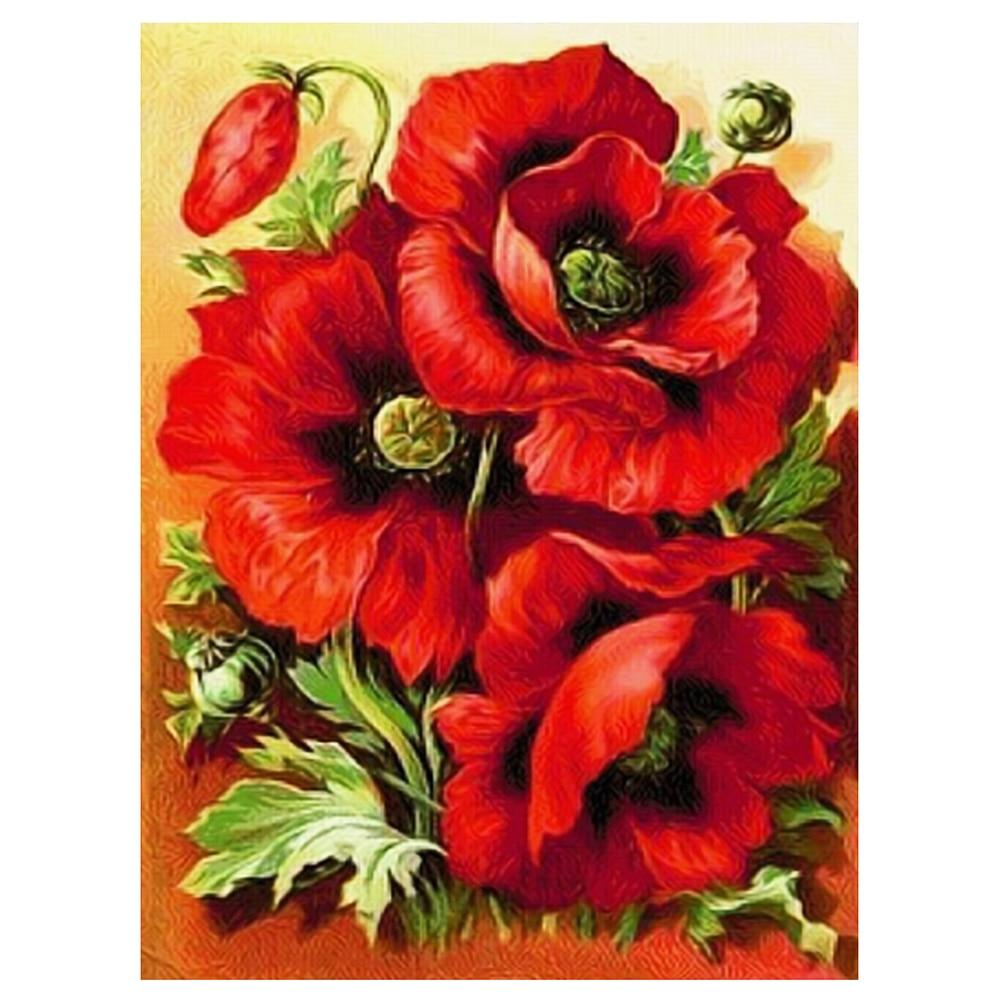 Diy алмаз живопись вышивка крестом красная роза круглый алмазный мозаика вышивка домашний декор живопись 30*40 см