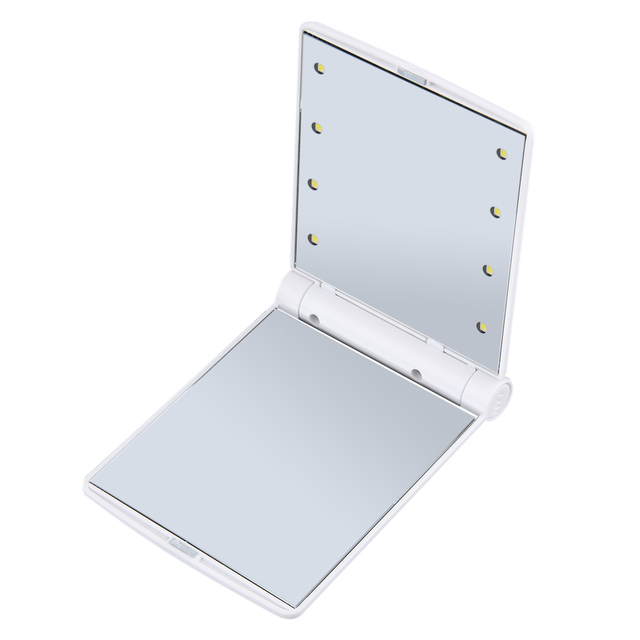 Makeup 8 LED Lights Folding Mirror