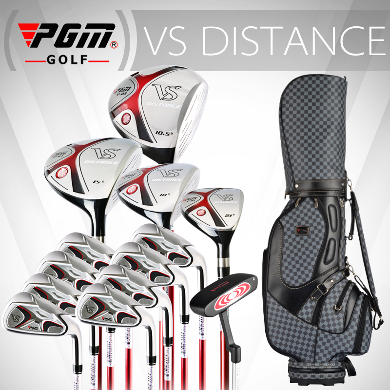 PGM for MENS, Titanium alloy for driver. Full golf set in graphite carbon shaft. Professional golf clubs complete set with bag free shipping pgm mens golf clubs complete set of graphite shaft with standard bag titanium alloy for rod
