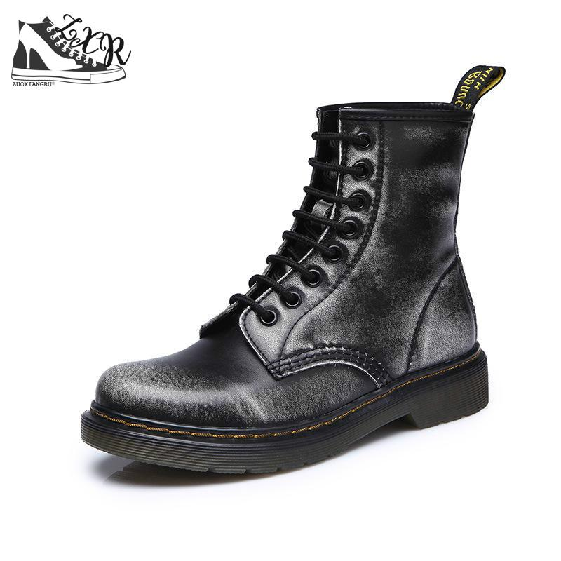 New High Quality Genuine Leather Male Shoes Non-slip Warm Men Boots Martin Motorcycle Autumn Winter Lover Snow Low-heeled Boots